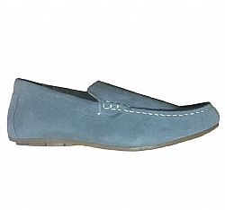 LIVERGY MOCASSINS LEATHER LOAFERS GREY